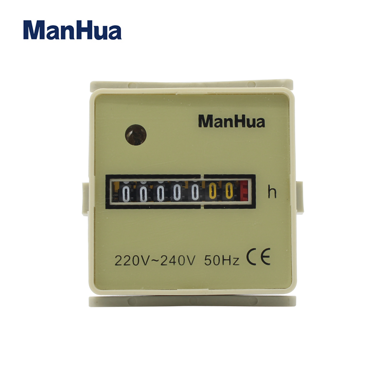 HM-2 220V-240V 48*48*48mm 0~9999999h CE Certificated Hour Meter