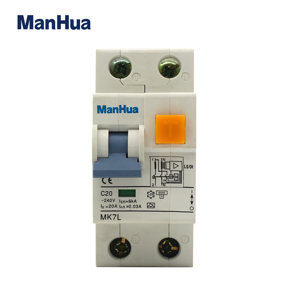 MK7L-40 residual current circuit breaker with over current protection